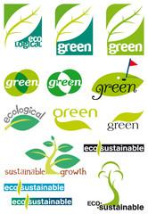 green/ecological  logos
