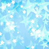 blue and white stars