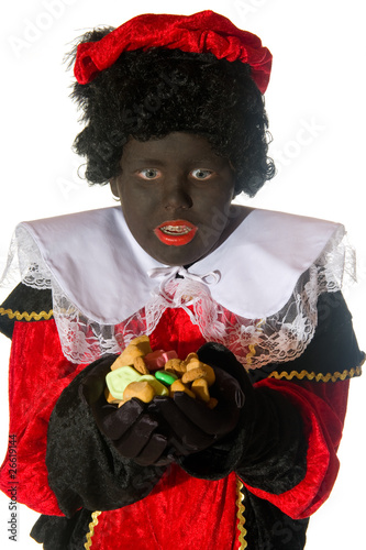 Black Piet with candy