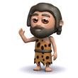 3d Caveman says howdy