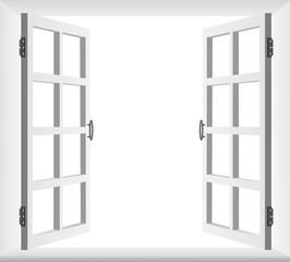 Finestra Aperta-Open Window-Vector