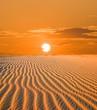 obraz - sunset in a desert