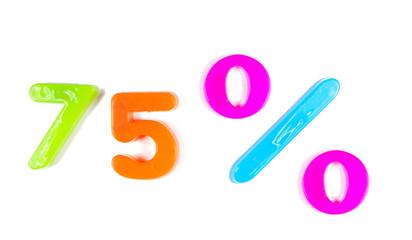 75% written in fridge magnets