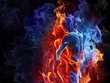 Leinwandbild Motiv Fire couple