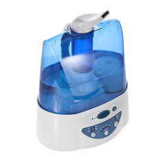 Humidifier with ionic air purifier isolated on white background.