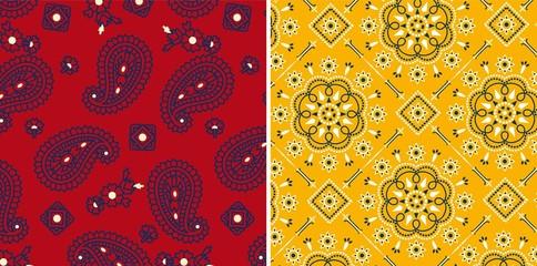 Paisley seamless vector patterns