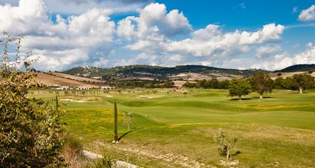 Panorama della zona termale di Saturnia, zona golf