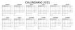 calendario 2011 personalizzabile