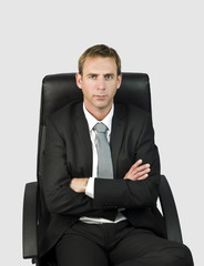 Business man in chair