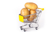 Shopping cart with potatoes