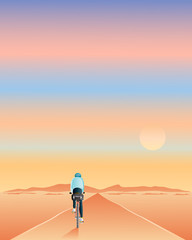 riding towards the sun