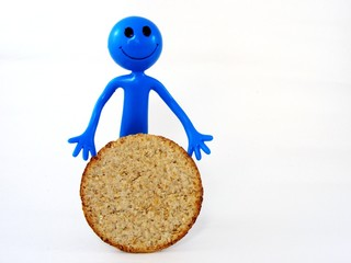 Smily Man with Oatcake