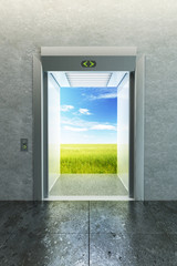 opened elevator to new life