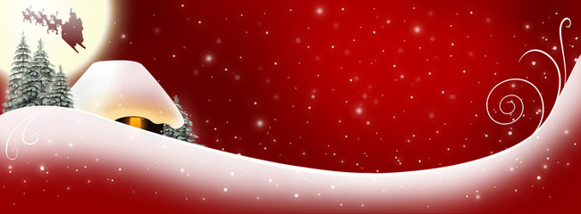 Christmas Banner red
