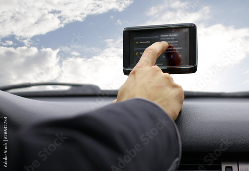 Eingabe am Navigationsgerät