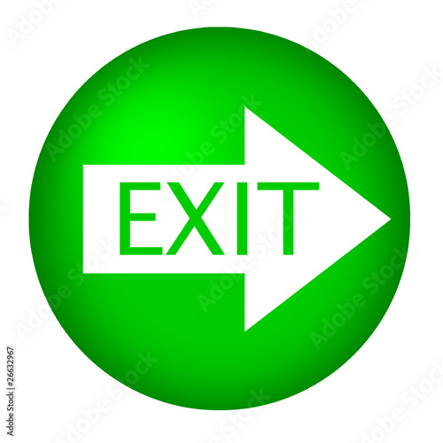 Exit arrow green white