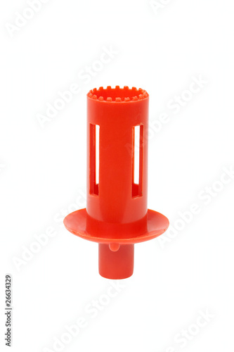 Red plastic pipe