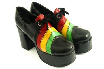 Funky retro 1970's platform shoes