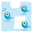 oiseau bleu twitter - famille