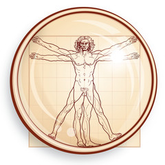 The Vitruvian Man under Microscope