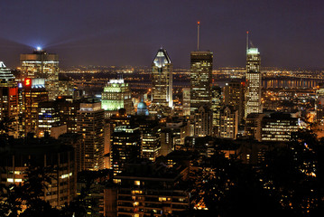 Montreal city lights, Canada