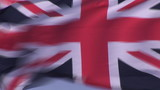 Flag of the United Kingdom in the wind