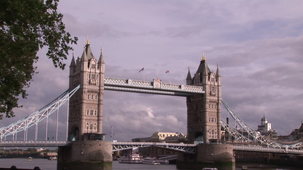 Front view of  the Tower Bridge in London