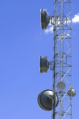 Satellite transmission dish