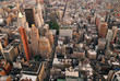 New York City skyline street aerial view