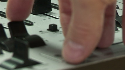 Close up of a Dj during a lesson