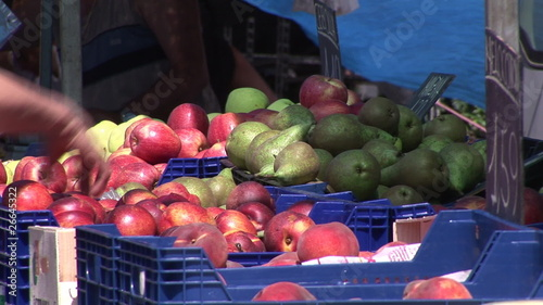 Close up of apples during the market