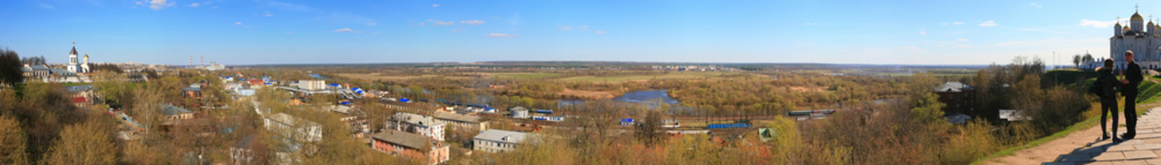 Panorama of the Vladimir city. Russia