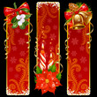Christmas and New Year vertical banners