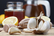 Honey, lemon and garlic as natural medicine