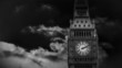 Animation showing big ben top by night