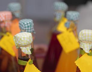 Vinegars bottles