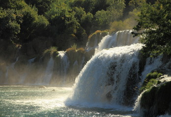 Waterfall close- up (Krka, Croatia)