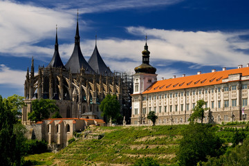 View of monuments in Kutna Hora