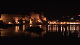 Collioure 's castle lighten up at night