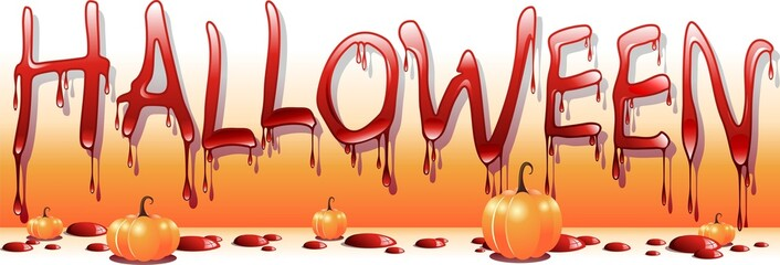 Halloween di Sangue-Bloody Halloween-Vector
