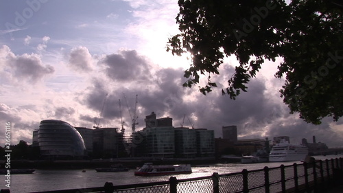 Side view of The City and the river Thames
