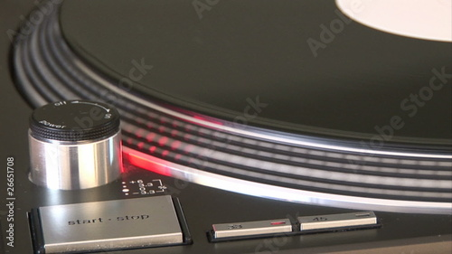 Close-up of a turntable