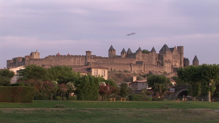 View of a castle on a hillside