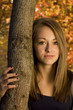 Beautiful teenage girl - Autumn Setting