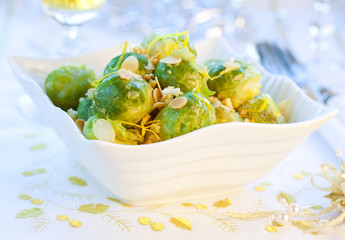 crisp-topped brussels  sprouts