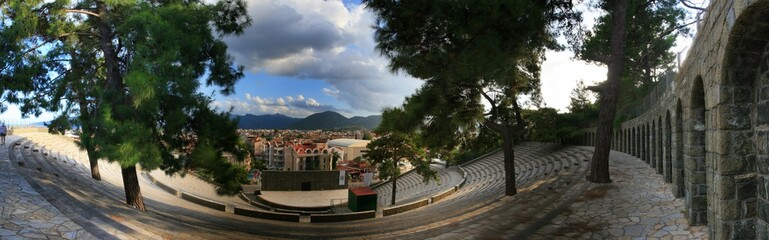 The ancient amphitheater in the city of Marmaris. Turkey