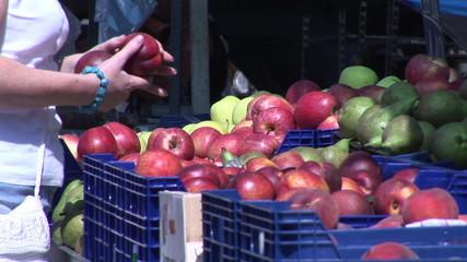 Close up of a market