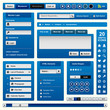 Web Design Element Blue Frame