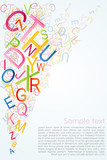 Fototapety alphabetical abstract background