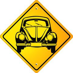VW Beetle Schild